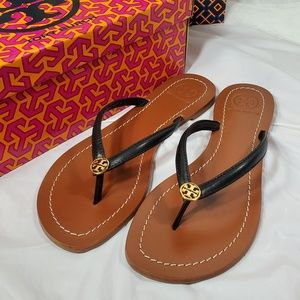 New Authentic Tory burch Terra leather sandal